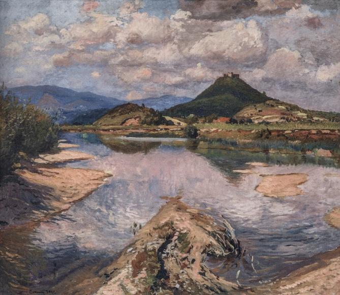 Ерделі А._'Вид на Ужгород весною', 1950, п.о., 77х85_A 1