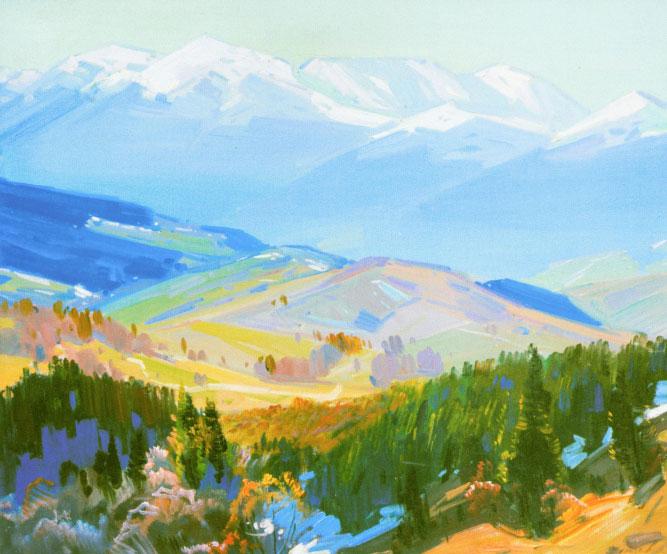 Ерделі А._'Осінній пейзаж з копицею', 1954, п.о., 102х117_A 1